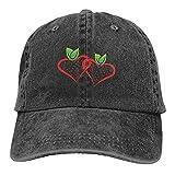 Jopath Baseballmütze mit Erdbeer-Logo, Retro-Stil, verstellbar, Denim
