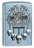 Zippo Harley Davidson Feuerzeug, Messing, Chrom, 5.5 x 3.5 x 1 cm