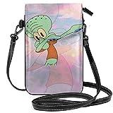 Kleine Crossbody-Taschen, Handytasche, Squidward Tentakel-Druck, mit Kreditkartenfächern