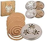 No Label Esschert Design 8208100Zitronengras-Spiralen, 10Ersatz-Sp