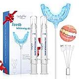 Luckyfine Hochwertiges Teeth Whitening Kit, Professionelle Zahnaufhellung Set zu Hause Zahnweiß-Bleichsystem, Wiederverwendbares Home Bleaching Kit für Weisse Zähne