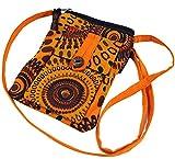 GURU SHOP Brustbeutel, Geldbörse - Orange, Herren/Damen, Baumwolle, Size:One Size, 17x13 cm, Portemonnaies aus Stoff