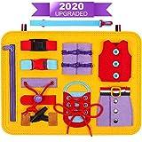 DigHealth Busy Board Montessori Spielzeug, Frühpädagogisches Lernspielzeug für Lernen Grundleben Kleidungsfähigkeiten, Beschäftigtes Brett für Kleinkinder 1 2 3 4-jährig