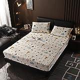 XGguo Matratzenschoner |Auflage zum Schutz der Matratze Dickeres Bettlaken einteilig rutschfest-9_90 × 200cm