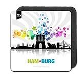 DStern Design AbstractCities Hamburg - Der Hamburg-Untersetzer aus robustem Silikon   Hamburg Rubber Coaster   Dekoration   Untersetzer   Hamburger Geschenkidee   Hamburg-Geschenk