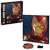 LEGO 31199 Art Marvel Studios Iron Man – Kunstbild, Wandkunst Set, DIY Puzzle für Erwachsene