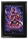 HWC Trading Avengers Endgame A3 Gerahmte Signiert Gedruckt Autogramme Bild Druck-Fotoanzeige Geschenk Für Marvel Captain America Ironman Thor Filmfans