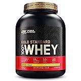 Optimum Nutrition ON Gold Standard Whey Protein Pulver, Eiweißpulver Muskelaufbau mit Glutamin und Aminosäuren, natürlich enthaltene BCAA, Banana Cream,73 Portionen,2,27kg