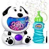 EPCHOO Seifenblasenmaschine für Kinder, Seifenblasen Maschinen Seifenblasen Spielzeug mit Seifenblasenflüssigkeit Süßer Hund Luftblasen Maschine Garten Kinder Spielzeug Outdoor Indoor Geschenk Spiele
