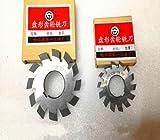 Set 8Pcs Modul 1 M1 Innenbohrung 22mm # 1-8 Zahnformfräser scheibenförmigen