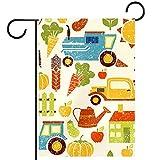 LynnsGraceland Yard Decor Outdoor-Schild Gartenflaggen hängende Verzierung,Bio-Landwirtschaft,für Terrasse Topfdeck