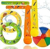 TK Gruppe Timo Klingler Schwimmring & Tauchring Set - mit Schwimmring, Tauchring, Wurfring - Tauchspielzeug zum Tauchen für Kinder & Erw