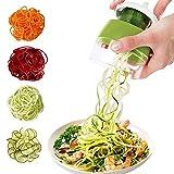 Spiralschneider 4 in 1 Gemüseschneider, Hand Spiralschneider Gemüse, Gemüsehobel für Gemüsespaghetti, Karotte, Gurke,Kürbis, Zucchini, Kartoffel