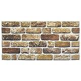 IZODEKOR Wandverkleidung Steinoptik Styropor 3D Wandpaneele - Verblender Steinoptik für Küche, Badezimmer, Balkon, Schlafzimmer, Wohnzimmer, Küchenrückwand und Teras | B