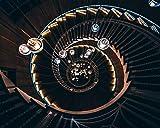 Kpoiuy DIY ÖL Malen Nach Zahlen Kit,Malerei Lacke Treppe Wendeltreppe GlüHbirnen Spirale Zeichnung Mit Pinsel 16 * 20 Zoll Weihnachten Dekor Dekorationen Geschenke (Ohne Rahmen)