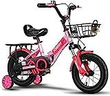 Kinderfahrrad für Mädchen und Jungen ab 2-7 Jahren, 12 Zoll 14 Zoll Kinderrad Kinder Freestyle, Fahrrad für Kinder, Jungen & Mädchen, Kinder Fahrrad, Laufrad, Kinderrad,Pink_12'