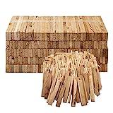 Aleko Premium 3,7 kg Brennholz bzw. Holzkohle - Anzünder aus Eichenholz, Bio Kaminanzünder, für Grill, Kamin, Ofen - perfekter Grillanzünder, getrocknetes und unbehandeltes Anmachholz