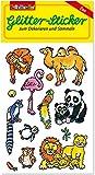 Glitter-Sticker * ZOOTIERE * von Lutz Mauder   72307   als Mitgebsel für Kinder   Zoo Tiere Aufkleber zum Kindergeburtstag & Basteln