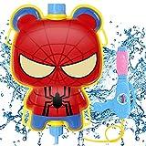 Backpack Water Pistol Superhero Spiderman HANEL-Outdoor Spielzeug, Wasserpistole Spielzeug mit Tankrucksack, Outdoor Spiele für Draußen,Spritzpistole Kinder, Garten Spielzeug Geschenke