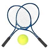 DaMohony Tennisschläger Tennisschläger Langlebiger Trainings-Tennisschläger für Erwachsene Teenager Anfänger Inklusive Ball Und Tragetasche. (Blau)