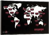 Lunartec Weltuhr: Digitale Weltzeit-Uhr mit 24 Weltstädten (Globus mit Weltzeit)