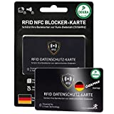DEKRA gepr. RFID Blocker Karte Ultra dünn 0,8mm I Neuste 360° RFID NFC Blocker Karte I NFC Schutz für Geldbörse, EC- & Kreditkarte I Schutzkarte, Schutzhülle, Kartenhülle