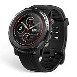 Amazfit Stratos 3 Smartwatch mit hochpräzisem GPS, kreisförmiges transflektives Display und 19 Sportmodi für den Profisport (Black)