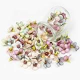 Künstliche Blumen, 100 Stück Gänseblümchen Blütenköpfe, Mini Kunstblumen Seide Kunstblumen Köpfe Deko für Hochzeit Feste Partei Haus DIY Basteln
