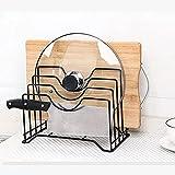 Zayaa Küche Lagerregal Schneidebrett Topfdeckelhalter Korrosionsschutz Multifunktionale Tischplatte Ablage für Schränke Arbeitsplatte