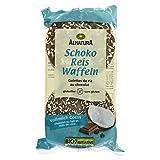 Alnatura Bio Schoko-Reiswaffeln, Vollmilch-Cocos, glutenfrei, 12er Pack (12 x 100 g)