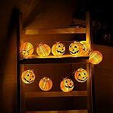 YLHXYPP Energieeinsparung Halloween-Dekorationen Beleuchtung Batteriebetriebene 10/20 LED-Kürbis-Licht for Indoor Outdoor-Halloween-Party Umweltschutz.