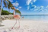 Muralo Selbstklebende Fototapete 104x70,5 Schlafzimmer Flamingo Strand Meer Moderne Tapete Wohnzimmer Wandbilder Wandtapete Wandtattoo XXL Br. 104 cm x Hö. 70,5