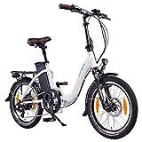 """NCM Paris 20"""" E-Bike, E-Faltrad, 36V 15Ah 540Wh Weiß"""