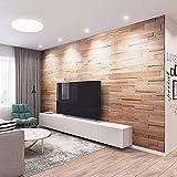 Wooden Wandverkleidung aus Naturholz, 18 Wandpaneele aus Eichenholz, Natur: 1 m²