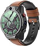X&Z-XAOY Smartwatch Armbanduhr Für Herren, Fitness-Tracker-Uhr, 5ATM Wasserdichtes Android 10, LTE 4G SIM 1100mAh, Intelligentes Armband Smartwatch
