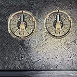 Vintage Runde Wandleuchte Amerikanische Industrielampe Wandleuchte Loft Restaurant Korridor Wohnzimmer Balkon Korridor Wandleuchten,Personalisierte dekorative Lichter