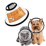 FayTun Haustier-Kegel-Genesung, verstellbares ABS-Halsband für Hunde und Katzen, Sicherheits-Kegel-Halsband, bequem, Anti-Biss-Ring, schützende Halsbänder für Katzen, kleine Hunde (S)