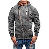 MRULIC Herren Kapuzenpullover Hoodie Sweater Sweatjacke Pullover Sweatshirt RH-005(Dunkelgrau,EU-44/CN-M)
