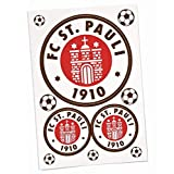 FC St. Pauli 3er Set Aufkleber, Sticker, Autoaufkleber Logo - Plus gratis Aufkleber Pauli Fans gegen Rechts