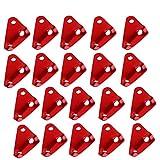 BETOY Aluminiumlegierung Guyline Zeltleinenspanner, 20 Stücke Dreieck Guyline Zelt Seil Cord Adjuster Zelt Spanner Seil für Zelt Wandern Camping