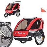 Tiggo Kinderfahrradanhänger Fahrradanhänger Jogger 2in1 Anhänger Kinderanhänger BT504-D01 Rot