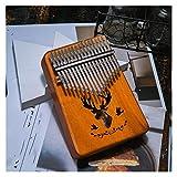 FXBXYLQ Tragbar 17-Key Mahagoni-Thumb-Piano-Reed 17-Key-Musik-Tastatur Mini-Klavier Hoher Qualität Holzfinger-Klavier Musikalisches Geschenk (Color : Reed)