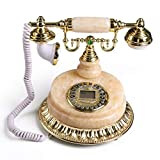 qwertyuio Nostalgisches Vintage Telefon Antikes Telefon Retro Vintage Telefon, Antikes Kabelgebundenes Festnetztelefon Mit Druckknopf Schnurloses Zifferblatt Für Heim- Und Bürodekor