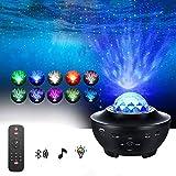 YANZHU Disco Ball Bluetooth Lautsprecher Party Dance Nachtlichter Apark Bühne Stroboskop-Effekte DJ Lampe mit Fernbedienung MP3-Player und USB für Pool Dance Show Schlafzimmer