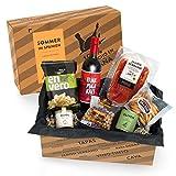 Präsentkorb SOMMER IN SPANIEN - Geschenkkorb gefüllt mit Sangria & spanischen Delikatessen - 7-teiliges Geschenkset ideal für Frauen & Männer