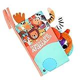 Vicloon Stoffbuch, Bilderbuch aus Stoff mit vielen Fühl und Spieleffekten, Hochwertiges Kleinkindspielzeug, Baby Buch,Wunderschön Gestaltetes Babyspielzeug, Weiches Knisterbuch für Babys