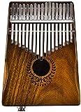 CRTTRC Stylish 17 Tasten Gl. Kalimba 17 Tasten Gl. Kalimba Solid Acacia Thumb Piano Link Lautsprecher Elektrischer Tonabnehmer mit Taschenkabel Calimba Keyboard Instrument-2