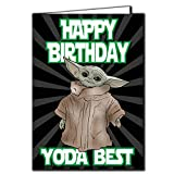 Baby Yoda The Mandalorian – 'Happy Birthday Yoda Best' – Star Wars, Yoda, Karte, TV, lustig, Show IN113