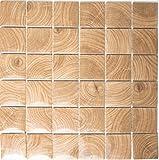 Mosaik Fliese Keramik beige Clico Holzoptik braun für BODEN WAND BAD WC DUSCHE KÜCHE FLIESENSPIEGEL THEKENVERKLEIDUNG BADEWANNENVERKLEIDUNG Mosaikmatte Mosaikplatte