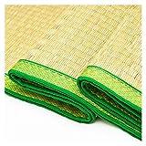 ALGWXQ Rattan KühlSommer Schlafmatte Staubdicht Atmungsaktiv Cool Wasserabweisende Bambusmatte Benutzt für Schlafzimmer, Schlafsaal, Büro, Sommer Cooles Pad (Color : A, Size : 90X190cm)